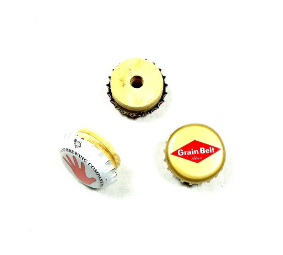 Bottle Cap Knob 3 - Pack
