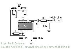 Atari Punk Console mit NE556