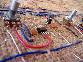PixelForm Burlap Circuit Wooven Creation