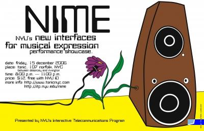 NIME Musical Expression flyier