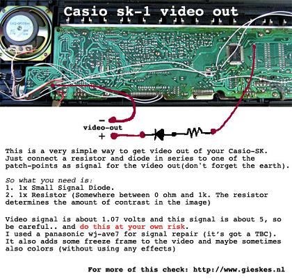 Casio SK-1 Video Out