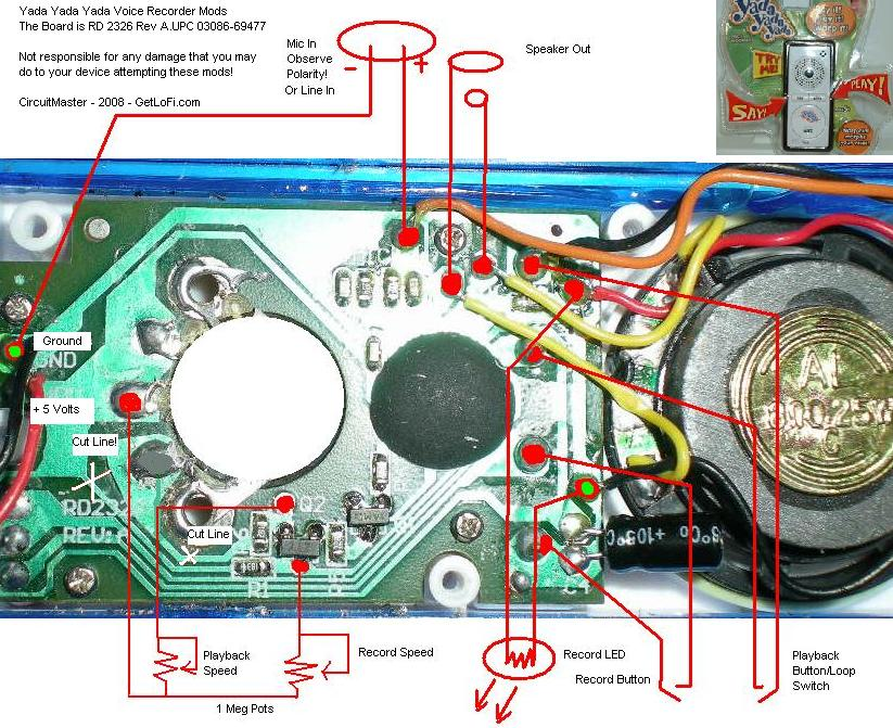 yada yada yada voice recorder circuit bending getlofi \u2013 circuityada yada yada recorder modifications