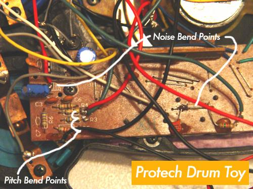 Circuit Bending Protech Drum Toy