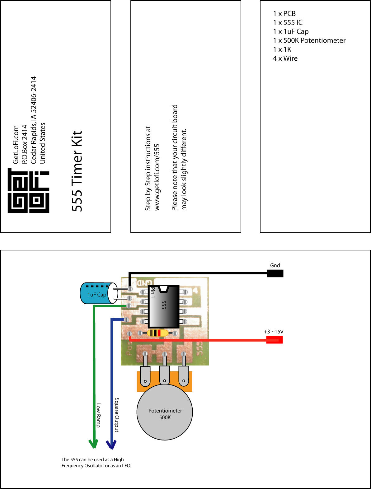 555 Timer Module on generator circuit diagram