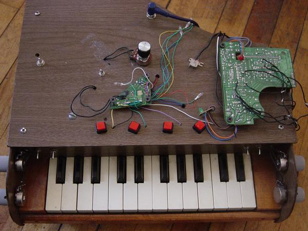 Toy Piano with Circuit Bent Delay by Nick Heimer