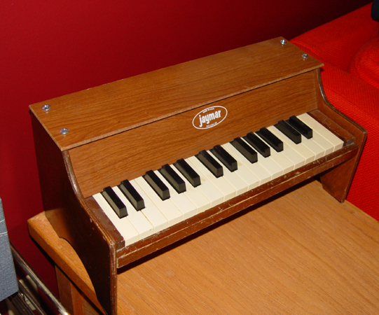 Jaymar Toy Piano with Piezo Pickup and Removable Back by Austin Cliffe
