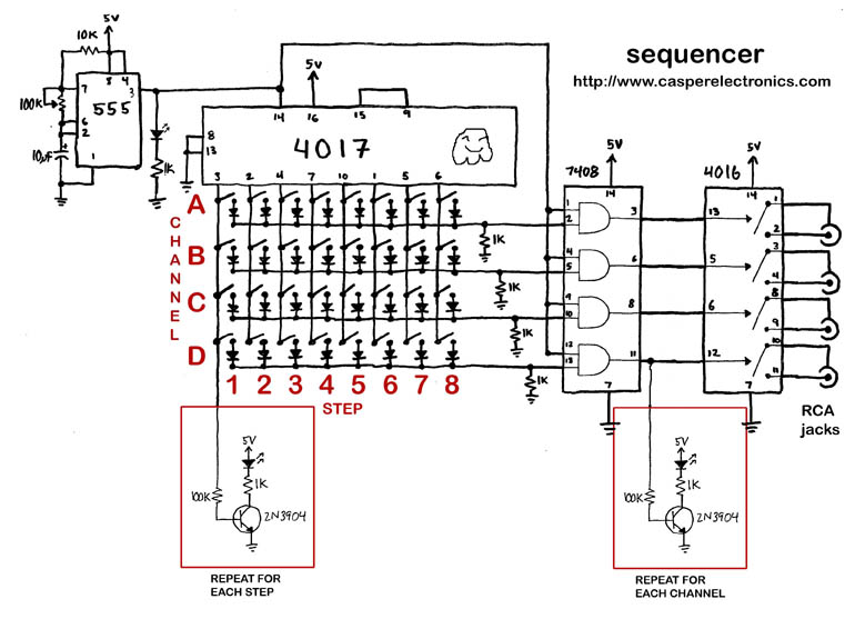 diy modular sequencer circuit examples