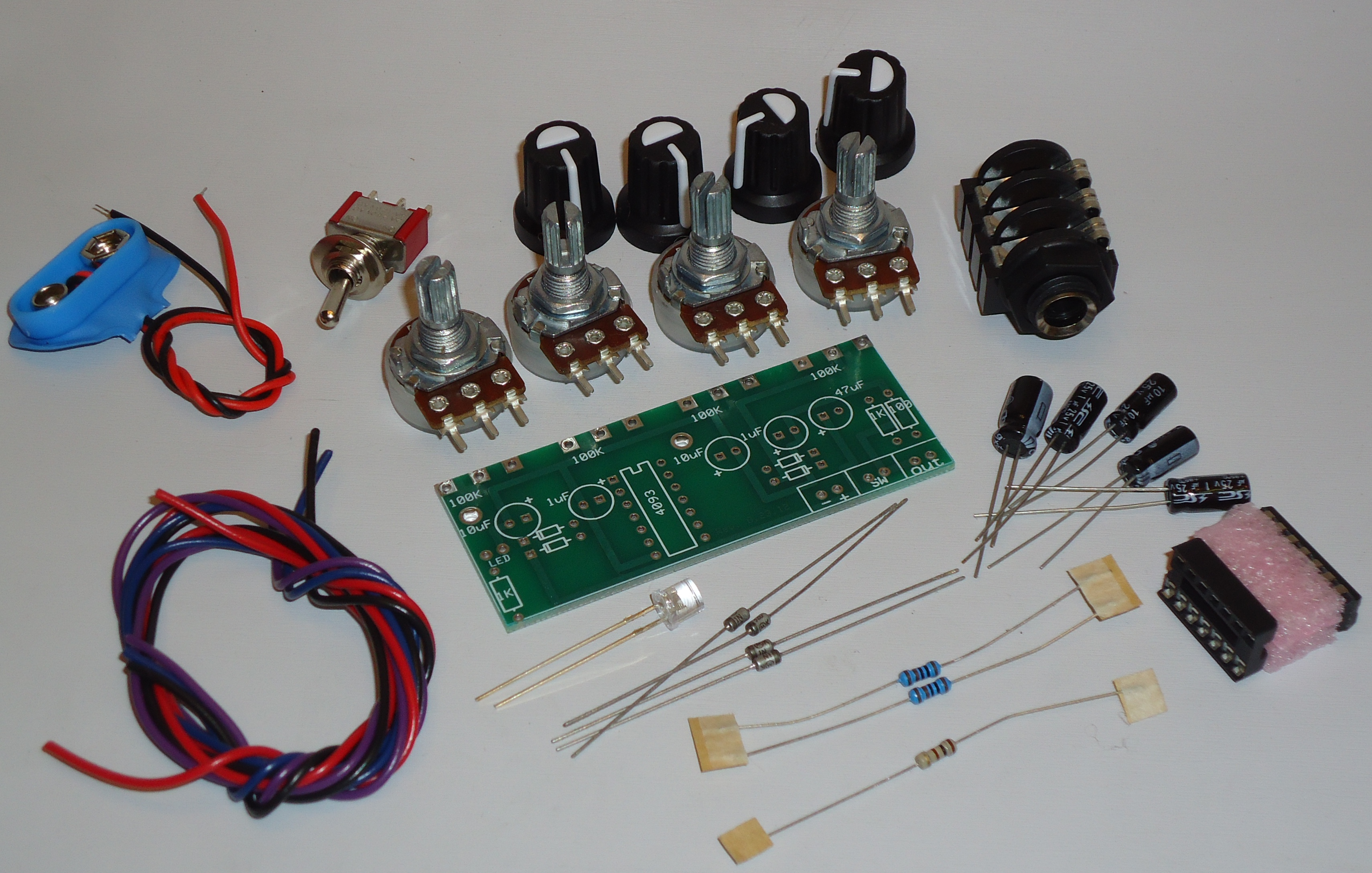 4093 Quad Oscillator Kit Getlofi Circuit Bending Synth Diy Doityourself Crystal Schematic Demo