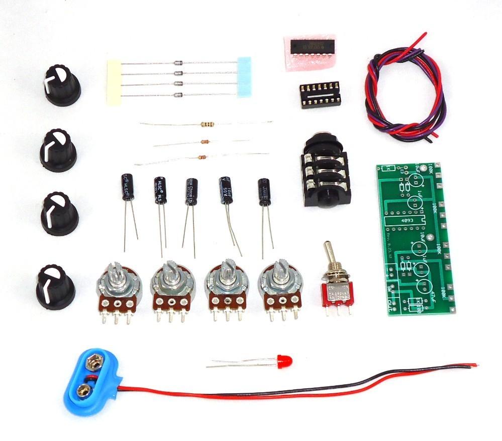 Quad Oscillator Punk Console 4093 Hex Schmidt Circuit Kit Assembled
